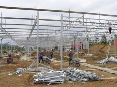 Venlo type sunshine panel greenhouse of Yantai, Shandong